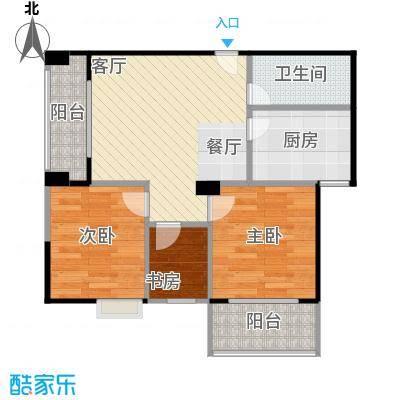 海景1号82.36㎡1号楼07户型3室2厅