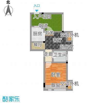 金港花园43.12㎡9#楼1、3单元01、02户型,面积43.12户型1室1厅1卫