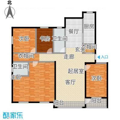 绿江太湖城金色水岸185.75㎡F户型4室2厅