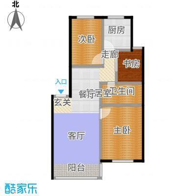 绿江太湖城金色水岸90.00㎡B户型3室2厅1卫