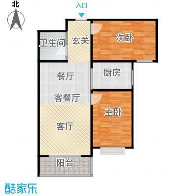 新华名座C座住宅户型2室1厅1卫1厨