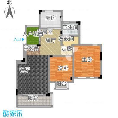 蓉湖山水89.00㎡一期高层A2号楼 B-A3-3户型2室2厅1卫