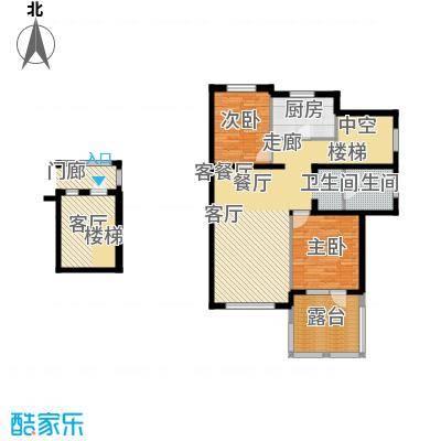 依云温泉小镇106.12㎡J户型两室三厅一卫户型2室3厅1卫
