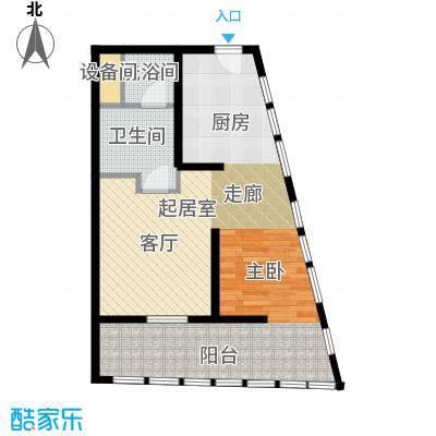 中惠熙元广场85.00㎡公寓 85平米户型1室1厅1卫