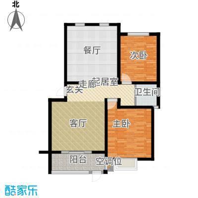 东润豪景107.17㎡16号楼107.17户型2室2厅1卫