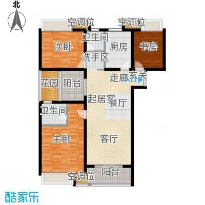 世茂国际广场户型3室2卫1厨