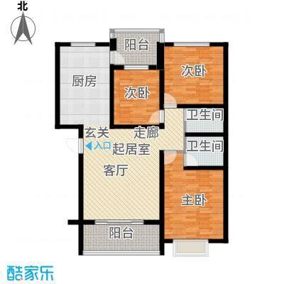 东润豪景137.72㎡8号楼137.72平米户型3室2厅2卫