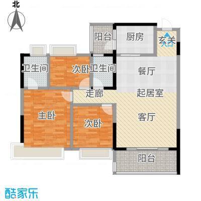 中澳春城108.00㎡12栋0203户型108平三房户型CC