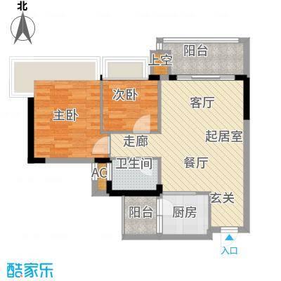 中澳春城68.00㎡78栋0104户型68平米两房户型QQ