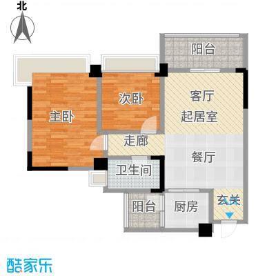 中澳春城78.00㎡栋0104户型78平米两房户型CC