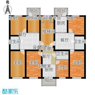 联通名苑B1B2B3户型6室2厅3卫2厨