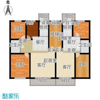 联通名苑A1建筑面积117.12平方米,A2建筑面积88.62平方米户型
