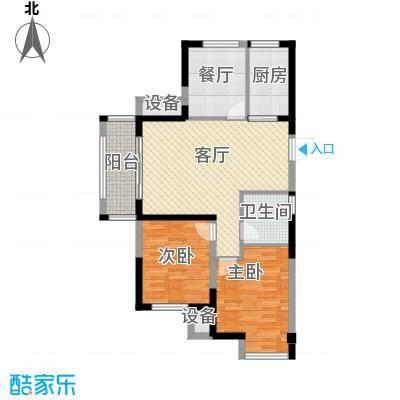 金科中心89.65㎡4/6幢 B1-4户型 三室两厅一卫户型3室2厅1卫