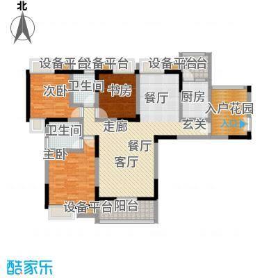 水榭花都户型3室1厅2卫1厨