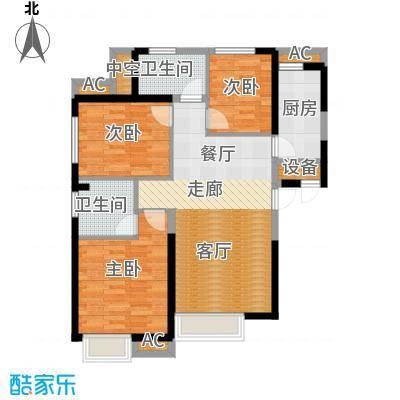 荔城公馆103.13㎡5号楼F户型3室2厅2卫