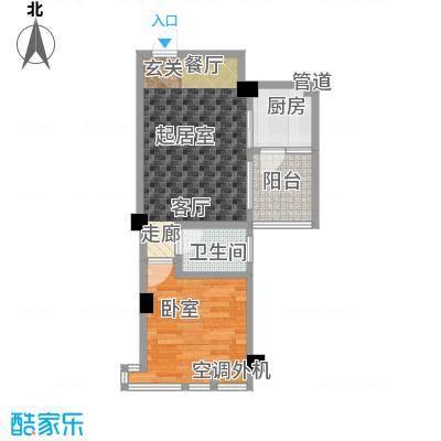 金港花园50.09㎡8#楼一房两厅,面积50.09平方米户型1室2厅1卫