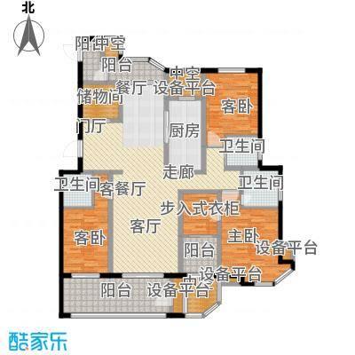 南通绿地新都会172.00㎡绿地新都会172平米户型图户型3室2厅3卫