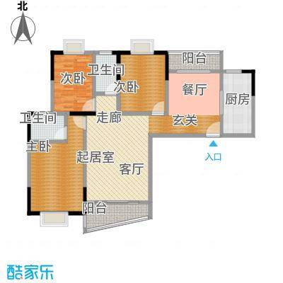 丽嘉花园115.00㎡1号楼A2户型