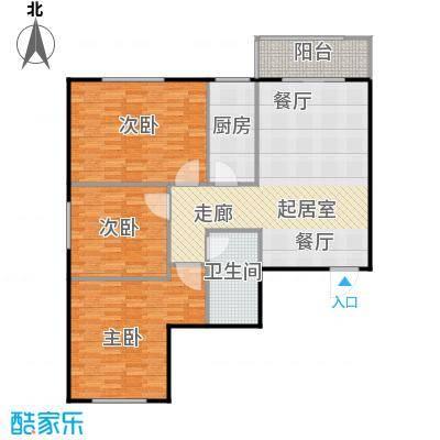 太原学府苑户型3室1卫1厨