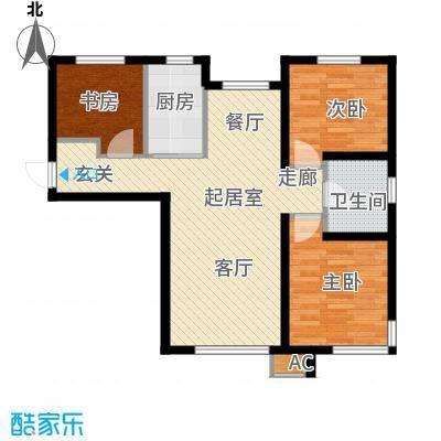 中铁万科香湖盛景95.00㎡三室两厅一卫户型QQ