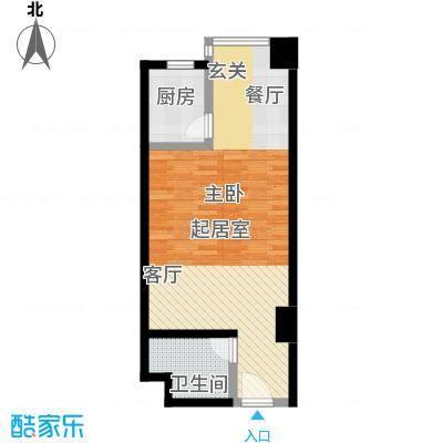 双威理想城53平米大开间公寓户型