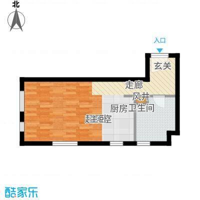 金宇新天地67.64㎡A户型67.64㎡户型1室1厅1卫