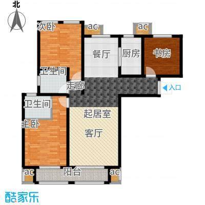 荣鼎天下137.72㎡三室两厅两卫户型137.72平米户型3室2厅2卫