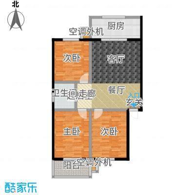 御龙苑114.47㎡御龙苑2号楼A户型3室2厅1卫1厨 114.47平米户型3室2厅1卫