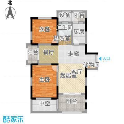 苏建名都城苏建名都城 户型图 G2-1户型二室二厅一卫 约108㎡赠送一半面积户型
