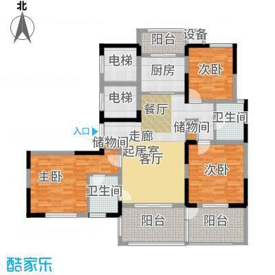 苏建名都城苏建名都城 户型图 G2-2户型三室两厅两卫 约135㎡赠送一半面积户型