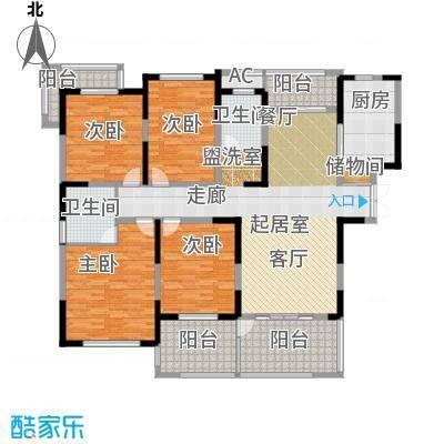 苏建名都城苏建名都城 户型图 G1-3户型四室两厅两卫 约164㎡赠送一半面积户型