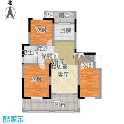 苏建名都城苏建名都城 户型图 G7-2户型三室两厅一卫 约122㎡赠送一半面积户型