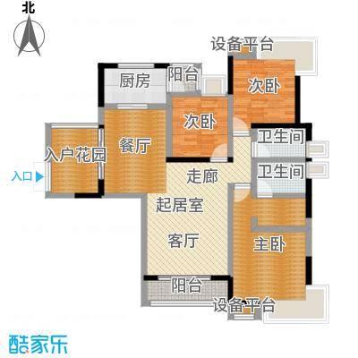 �湖世纪城128.10㎡14号楼01房户型3室2厅2卫