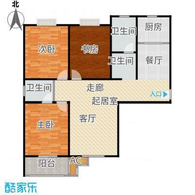 九如居136.26㎡九荣园3室2厅2卫户型3室2厅2卫