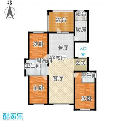 华溪龙城二期159.60㎡E1、E2户型三室两厅两厅户型3室2厅2卫