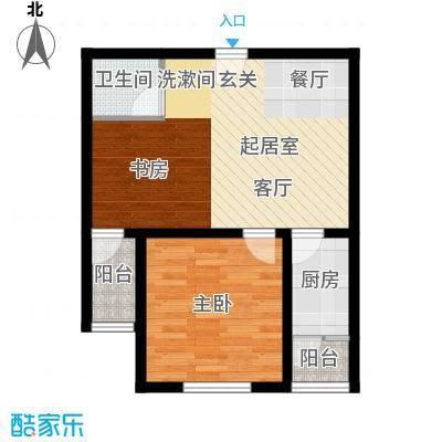 京东紫晶55.00㎡isolo2号小公馆户型1室1卫1厨