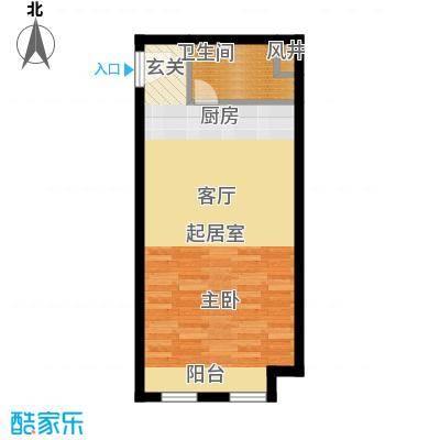 金宇新天地61.60㎡F户型1室1厅1卫