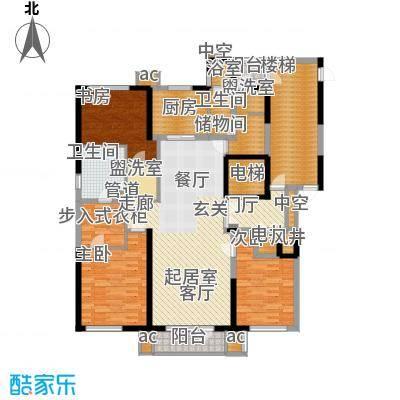 万科沈抚新城金域蓝湾167.00㎡高层 167平米 三室两厅两卫户型3室2厅2卫