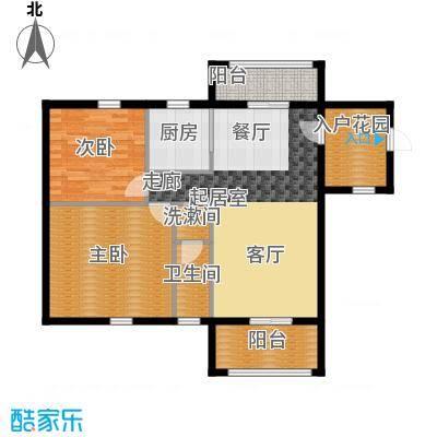 欣荣宏国际商贸城F户型2室1卫1厨