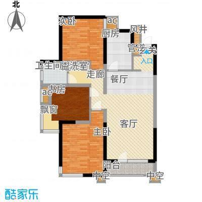 万科沈抚新城金域蓝湾115.00㎡高层 115平米 三室两厅一卫户型3室2厅1卫