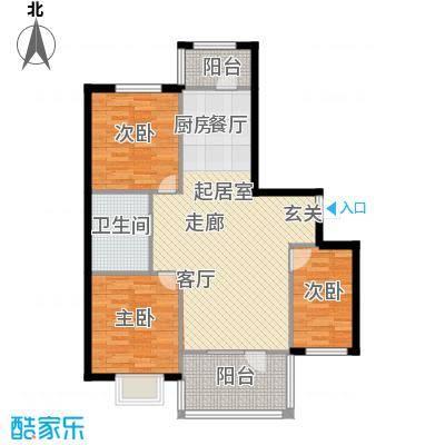绿城紫金园户型3室1卫