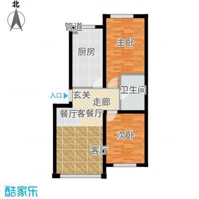 千禧名仕84.06㎡千禧名仕 户型图A3 面积84.06平方米户型2室1厅1卫