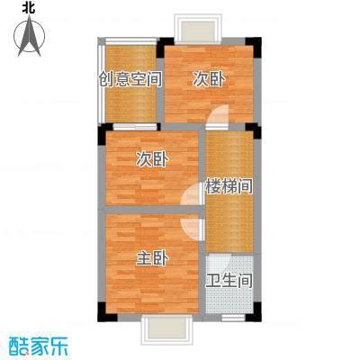 鸿信大宅门53.08㎡BN户型3室1卫
