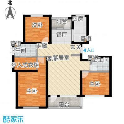 建荣皇家海岸120.00㎡三室二厅二卫户型