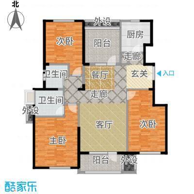 亿城叠山院138.00㎡4室2厅2卫1厨户型4室2厅2卫