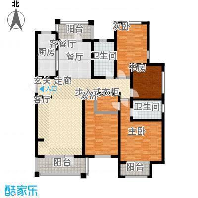 建荣皇家海岸161.00㎡四室二厅二卫户型
