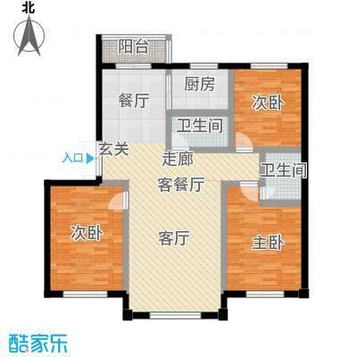 建荣皇家海岸126.00㎡三室二厅二卫户型