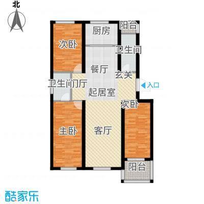 建新御景园109.88㎡A户型3室2厅2卫
