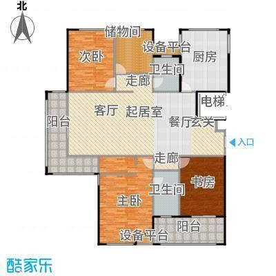 金鼎湾国际199.00㎡H户型4室2厅2卫