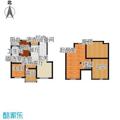 锦绣澜湾188.00㎡E户型三室二厅二卫户型3室2厅2卫